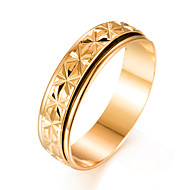 abordables Anillos-Hombre Chapado en Oro Anillo de banda - Forma de Círculo Moda Regalo Dorado anillo Para Regalo Enamorado