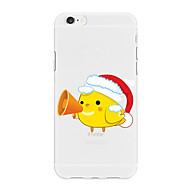 Недорогие Кейсы для iPhone 8 Plus-Кейс для Назначение Apple iPhone X iPhone 8 Plus С узором Кейс на заднюю панель Рождество Мультипликация Животное Мягкий ТПУ для iPhone X