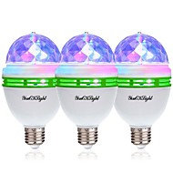 お買い得  -YouOKLight 3本 3W - E26 / E27 LEDボール型電球 3 LEDビーズ ハイパワーLED 装飾用 RGB 85-265V