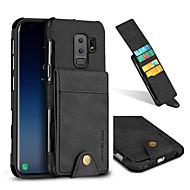 Недорогие Чехлы и кейсы для Galaxy S9-Кейс для Назначение SSamsung Galaxy S9 S9 Plus Бумажник для карт Защита от удара Кейс на заднюю панель Сплошной цвет Твердый текстильный