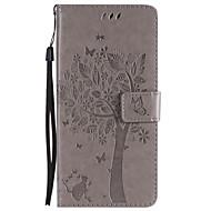 Недорогие Чехлы и кейсы для Galaxy S9 Plus-Кейс для Назначение SSamsung Galaxy S9 S9 Plus Бумажник для карт Кошелек со стендом Флип С узором Чехол Кот дерево Твердый Кожа PU для S9