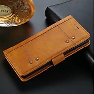 Недорогие Чехлы и кейсы для Galaxy Note-Кейс для Назначение SSamsung Galaxy Note 8 Кошелек / Бумажник для карт / Защита от удара Чехол Однотонный Твердый Кожа PU для Note 8