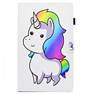 Недорогие Чехлы и кейсы для Galaxy Tab E 9.6-Кейс для Назначение SSamsung Galaxy Tab E 9.6 Бумажник для карт / со стендом / Флип Чехол Мультипликация Твердый Кожа PU для Tab E 9.6