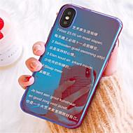 Недорогие Кейсы для iPhone 8-Кейс для Назначение Apple iPhone X iPhone 7 Plus Покрытие С узором Кейс на заднюю панель Слова / выражения Мягкий ТПУ для iPhone X iPhone