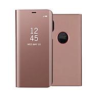 Недорогие Чехлы и кейсы для Galaxy Note-Кейс для Назначение SSamsung Galaxy Note 8 Note 5 со стендом Покрытие Зеркальная поверхность Флип Чехол Сплошной цвет Твердый Кожа PU для