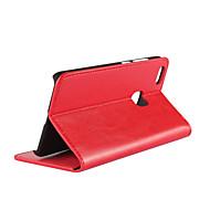 お買い得  携帯電話ケース-ケース 用途 Huawei P10 Lite カードホルダー / スタンド付き / フリップ フルボディーケース ソリッド ハード 本革 のために P10 Lite
