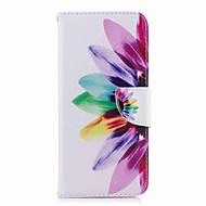 Недорогие Чехлы и кейсы для Galaxy S8-Кейс для Назначение SSamsung Galaxy S9 S9 Plus Бумажник для карт Кошелек со стендом С узором Чехол Цветы Твердый Кожа PU для S9 Plus S9