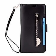 Недорогие Чехлы и кейсы для Galaxy S-Кейс для Назначение SSamsung Galaxy S9 Plus Бумажник для карт Кошелек со стендом Чехол Сплошной цвет Твердый Кожа PU для S9 Plus