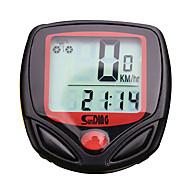 abordables Accessoires de Cyclisme & Vélo-SD-548A Compteur de Vélo Chronomètre Etanche latar LCD Compteur de vitesse Temps écoulé A Fil Multifonction Mémoire arrêt sur image