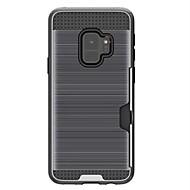 Недорогие Чехлы и кейсы для Galaxy S9-Кейс для Назначение SSamsung Galaxy S9 Plus / S9 Бумажник для карт / Защита от удара Кейс на заднюю панель броня Твердый ПК для S9 / S9 Plus / S8 Plus