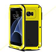 olcso Galaxy S7 Edge tokok-Case Kompatibilitás Samsung Galaxy S7 edge Ütésálló Héjtok Tömör szín Kemény Fém mert S7 edge