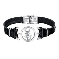 Men's Bracelet Casual Cool Leather Alloy Scorpion Jewelry Daily Date Costume Jewelry Black