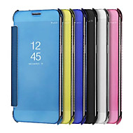 Недорогие Чехлы и кейсы для Galaxy S-Кейс для Назначение SSamsung Galaxy S9 S9 Plus Покрытие Зеркальная поверхность Чехол Сплошной цвет Твердый Кожа PU для S9 Plus S9