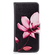 Недорогие Чехлы и кейсы для Galaxy A5(2016)-Кейс для Назначение SSamsung Galaxy A8 2018 A8 Plus 2018 Бумажник для карт Кошелек со стендом Флип С узором Чехол Цветы Твердый Кожа PU