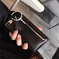 Недорогие Кейсы для iPhone 8-Кейс для Назначение Apple iPhone X iPhone 7 Plus Бумажник для карт Кошелек Кейс на заднюю панель Сплошной цвет Твердый Кожа PU для iPhone