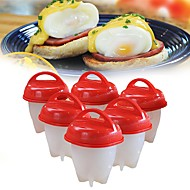 Silicone Eco-friendly DIY Birthday Creative Kitchen Gadget For Pudding For Candy Cheese Egg Egg Tools, 6pcs