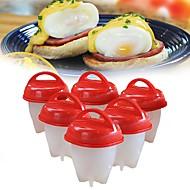 Χαμηλού Κόστους -Εργαλεία κουζίνας Σιλικόνη Φιλικό προς το περιβάλλον / Δημιουργική Κουζίνα Gadget / Γενέθλια Εργαλεία Αυγών για αυγό / για Τυρί / για Candy 6pcs