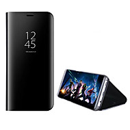 Недорогие Чехлы и кейсы для Galaxy Note-Кейс для Назначение SSamsung Galaxy Note 8 со стендом Зеркальная поверхность Чехол Сплошной цвет Твердый Кожа PU для Note 8