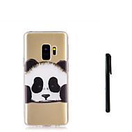 Недорогие Чехлы и кейсы для Galaxy S9 Plus-Кейс для Назначение SSamsung Galaxy S9 S9 Plus Полупрозрачный Кейс на заднюю панель Панда Животное Мягкий ТПУ для S9 Plus S9 S8 Plus S8