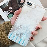 Недорогие Кейсы для iPhone 8 Plus-Кейс для Назначение Apple iPhone X iPhone 7 Plus Движущаяся жидкость С узором Кейс на заднюю панель Сияние и блеск Мягкий ТПУ для iPhone