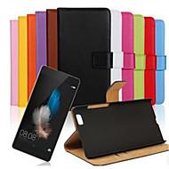 preiswerte Handyhüllen-Hülle Für Huawei P8 Huawei Huawei P8 Lite P8 Lite P8 Huawei Hülle Kreditkartenfächer Geldbeutel mit Halterung Flipbare Hülle