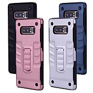 Недорогие Чехлы и кейсы для Galaxy Note-Кейс для Назначение SSamsung Galaxy Note 8 Защита от удара со стендом Кейс на заднюю панель Однотонный Твердый ПК для Note 8