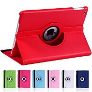 billige iPad-tilbehør-Etui Til iPad Mini 4 iPad Mini 3/2/1 iPad 4/3/2 iPad Air 2 iPad Air Med stativ Auto Sluk 360° Rotation Fuldt etui Ensfarvet PU Læder for