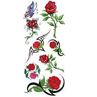 رخيصةأون وشم مؤقت-1 pcs ملصقات الوشم الوشم المؤقت سلسلة الزهور ضد الماء الفنون الجسم هيكل / ذراع / كتف