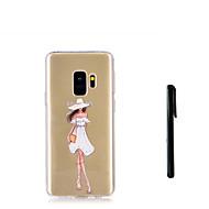Недорогие Чехлы и кейсы для Galaxy S9-Кейс для Назначение SSamsung Galaxy S9 S9 Plus Полупрозрачный Кейс на заднюю панель Соблазнительная девушка Мягкий ТПУ для S9 Plus S9 S8