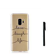 Недорогие Чехлы и кейсы для Galaxy S7-Кейс для Назначение SSamsung Galaxy S9 Plus / S9 Полупрозрачный Кейс на заднюю панель Слова / выражения Мягкий ТПУ для S9 / S9 Plus / S8 Plus