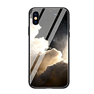Недорогие Кейсы для iPhone 8-Кейс для Назначение Apple iPhone X iPhone 8 С узором Кейс на заднюю панель Пейзаж Твердый Закаленное стекло для iPhone X iPhone 8 Pluss