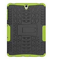Недорогие Чехлы и кейсы для Samsung Tab-Кейс для Назначение SSamsung Galaxy Tab A 8.0 (2017) Tab A 10.1 (2016) Защита от удара со стендом броня Кейс на заднюю панель Плитка броня
