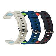 Недорогие Часы для Samsung-Ремешок для часов для Gear S3 Frontier Samsung Galaxy Современная застежка силиконовый Повязка на запястье