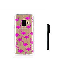 Недорогие Чехлы и кейсы для Galaxy S9 Plus-Кейс для Назначение SSamsung Galaxy S9 S9 Plus Полупрозрачный Кейс на заднюю панель Фламинго Мягкий ТПУ для S9 Plus S9 S8 Plus S8 S7 edge