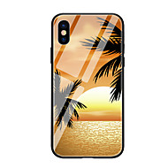 Недорогие Кейсы для iPhone 8-Кейс для Назначение Apple iPhone X iPhone 8 С узором Кейс на заднюю панель дерево Твердый Закаленное стекло для iPhone X iPhone 8 Pluss