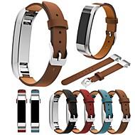 Недорогие Аксессуары для смарт-часов-Ремешок для часов для Fitbit Alta Fitbit Классическая застежка Натуральная кожа Повязка на запястье