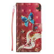 Недорогие Кейсы для iPhone 8 Plus-Кейс для Назначение Apple iPhone X iPhone 8 Plus Бумажник для карт Кошелек со стендом Флип С узором Чехол Бабочка Твердый Кожа PU для