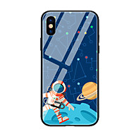 cheap -Case For Apple iPhone X iPhone 8 Pattern Back Cover Cartoon Hard Tempered Glass for iPhone X iPhone 8 Plus iPhone 8 iPhone 7 iPhone 6s