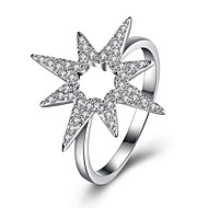 billige Smykker & Ure-Dame Kvadratisk Zirconium Band Ring - S925 Sterling Sølv Stjerne Damer, Mode Smykker Sølv Til Fest Daglig 8 / 9