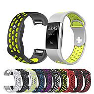 Недорогие Аксессуары для смарт-часов-Ремешок для часов для Fitbit Charge 2 Fitbit Спортивный ремешок силиконовый Повязка на запястье