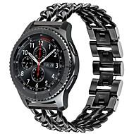 Недорогие Аксессуары для смарт-часов-Ремешок для часов для Gear S3 Frontier Samsung Galaxy Современная застежка Нержавеющая сталь Повязка на запястье
