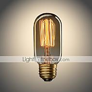 halpa Hehkulamppu-UMEI™ 1kpl 40W E26/E27 T45 Lämmin valkoinen 2300 K Himmennetty Vintage Edison-hehkulamppu AC 110-130V AC 220-240V V