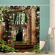 お買い得  浴室用小物-シャワーカーテン&フック コンテンポラリー ポリエステル ノベルティ柄 防水 浴室