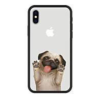 Недорогие Кейсы для iPhone 8 Plus-Кейс для Назначение Apple iPhone X iPhone 8 Plus С узором Кейс на заднюю панель С собакой Мультипликация Животное Твердый Акрил для