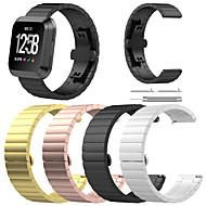 Недорогие Аксессуары для смарт-часов-Ремешок для часов для Fitbit Versa Fitbit Бабочка Пряжка Нержавеющая сталь Повязка на запястье
