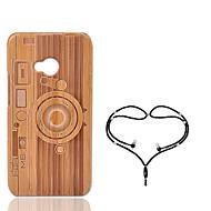 billige -Etui Til HTC One M7 Støtsikker Bakdeksel Geometrisk mønster Hard Bambus til HTC One M7
