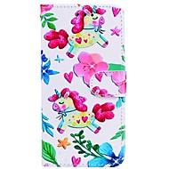 Недорогие Кейсы для iPhone 8 Plus-Кейс для Назначение Apple iPhone X iPhone 8 Plus Бумажник для карт Кошелек со стендом Флип С узором Чехол единорогом Твердый Кожа PU для