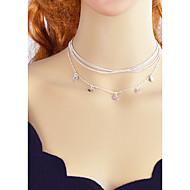 abordables Collares a Capas-Collares en capas - Dorado, Plata 43 cm Gargantillas Joyas Para Fiesta / Noche, Escuela