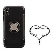 billige -Etui Til Apple iPhone X Ringholder Heldekkende etui Rustning Hard PC til iPhone X