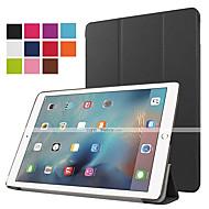 お買い得  -ケース 用途 iPad Air 2 スタンド付き オートオン/オフ 折りたたみ式 フルボディーケース 純色 PUレザー のために iPad 9.7 (2017)